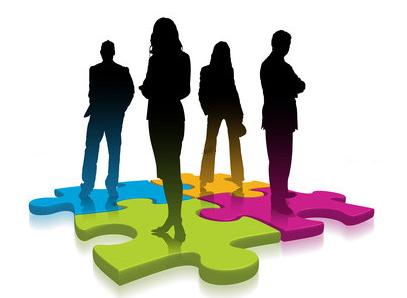 Immagine gruppo in co-working